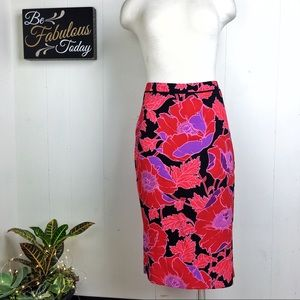 NWT Who What Wear Poppy Floral Print Pencil Skirt
